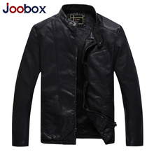JOOBOX New mens leather jacket plus size motorcycle jacket PU leather suede wool liner pilot leather jacket men's coat (QHL110)