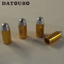 DATOUBO 20 pcs aluminum bullet design car wheel tire valve cap,car tyre tire valve stem caps.Promotion.