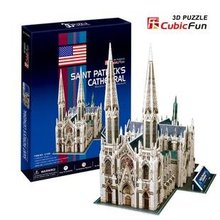CubicFun 3D puzzle paper model Creative gift child DIY toy New York Saint patrick's Cathedral world's great architecture C114H(China)