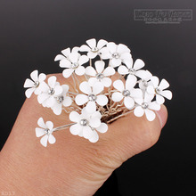 200PCS Lot Fashion Clear Crystal Rhinestone Daisy Flower Bridal Wedding Prom Party Hair Pins Clips Women Party Jewelry
