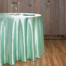 Free Shipping 10pcs Mint Green 70''/90''/108''/120''/132'' Round Satin Table Cloth Banquet Table Cover Wedding Table Linens(China)