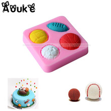 Four Kinds Ball Shape Cake Silicone Mold Cookie Embossed DIY Kitchen Baking Cake Molds Decoration Fondant Chocolate Pudding Tool