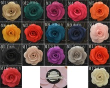 20 pcs/lot , Fabric Flower brooch Clip & Pin, Rose flower brooch hair clip