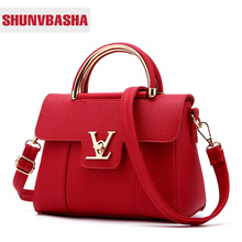 2017 Hot Flap V Women's Luxury Leather Clutch Bag Ladies Handbags Brand Women Messenger Bags Sac A Main Femme Famous Tote Bag(China)