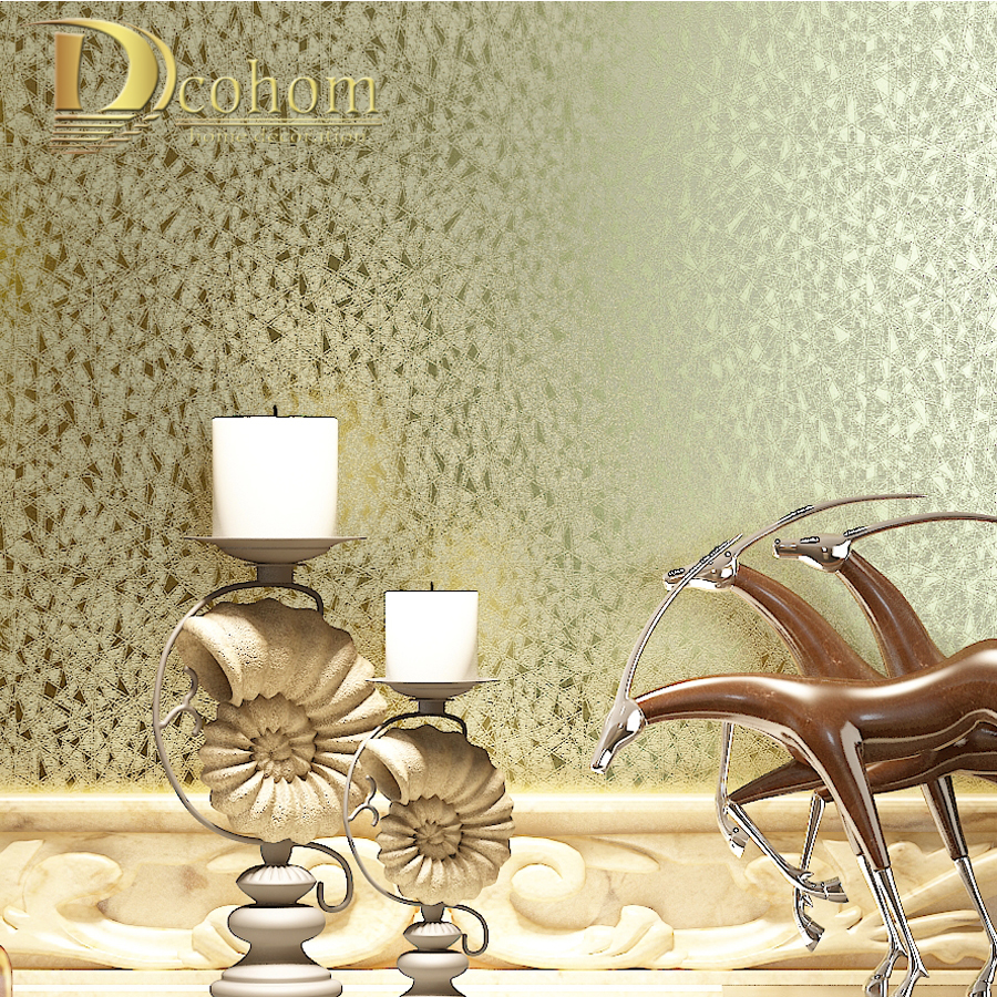 Dcohom High Quality Luxury Homes Gold Foil Wallpaper For Bedroom Living Room TV Background Walls Decor 3D Wall Paper Rolls<br>