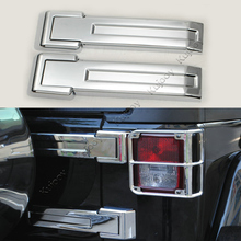 Red/ Chrome/ Blue ABS Car Tailgate Hinge Cover Frame Trim Car Styling Accessories for Jeep Wrangler 2008-2016