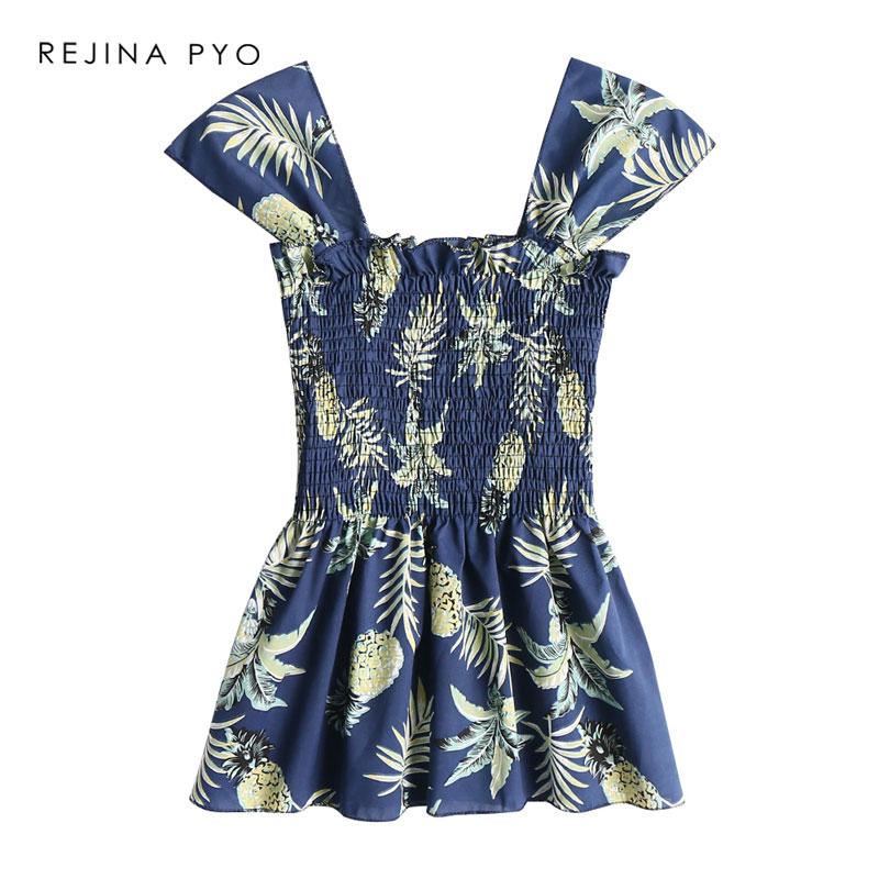 REJINAPYO Women's Sleeveless Floral Printed Casual Shirt Stretching Holiday Beach Tank Tops Women All-match Fashion Camis 9 Online shopping Bangladesh