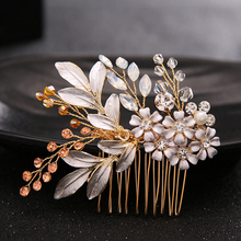 The bride headdress rhinestone beads Wedding Jewelry hair accessories headwear Hair Pins Clips for women