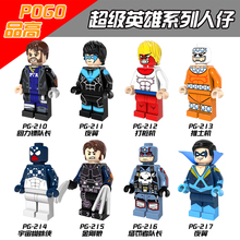 8pcs/lot PG8058 Super Hero Marvel Wolverine Captain boomerang Punisher Night Wing Space Spider Man Building Blocks Baby Toys
