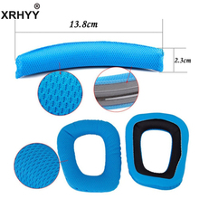 XRHYY Blue Logitech G35 G930 G430 F450 Headphones Replacement Headband Earpads Cushion Set(China)