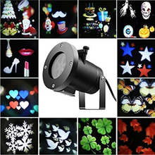 12 Types Holiday Decoration Stage Light Christmas Party Laser Snowflake Projector Outdoor LED Disco Light Equipment For Home(China)