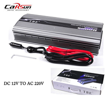 5000W Car Power Inverter DC12V/24V TO AC220V Compact Portable Car Charger Adapter Modified Sine Wave Solar Power Inverter(China)