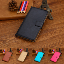 Buy Luxury Wallet Case HomTom HT16/HT16 Pro PU Leather Retro Flip Cover Magnetic Fashion Cases Strap for $3.99 in AliExpress store