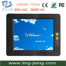19 inch industrial panel PC 5-w touch screen fanless embedded all in one computer OEM/ODM embedded board
