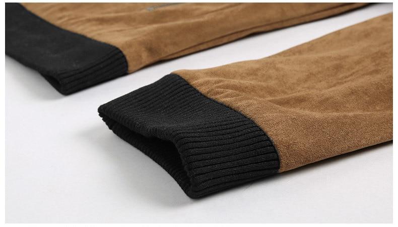 Jacket Men High Quality Autumn Baseball Collar Suede Spring Mens Jacket Coat Male Winter Warm Camel Size M L XL XXL 3XL 2018 New-08