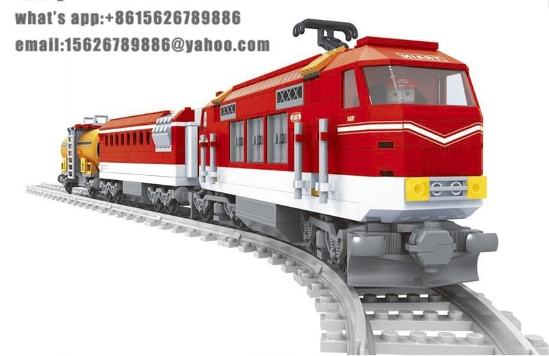 Ausini building block set compatible with lego transportation train 010 3D Construction Brick Educational Hobbies Toys for Kids<br>