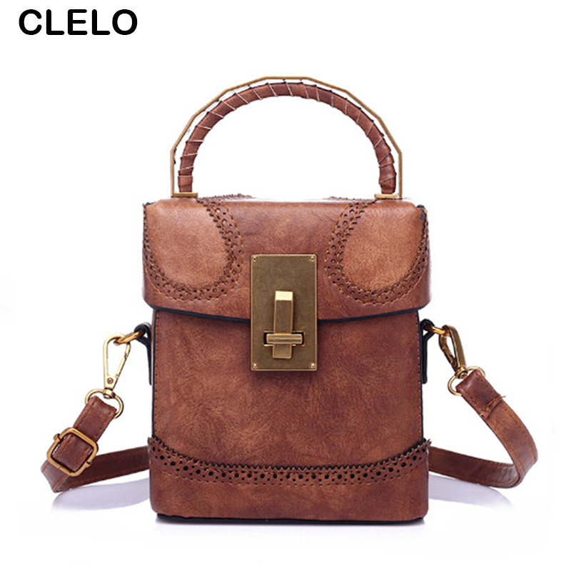 CLELO 2017 Vintage Fashion Mini Small Box Handbag Women Pu Leather Creative Mobile Wallet Bag Female Shoulder Messenger Bags<br>