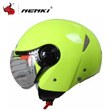 NENKI Vintage Style Motorcycle Open Face Helmet Men Women Touring Scooter Electric bicycle helmet electric motor car helmet(China)