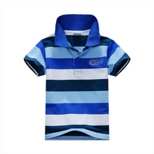 New Baby Boys Kid Tops T-Shirt Summer Short Sleeve T Shirt Striped Polo Shirt Tops A