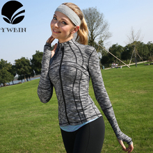 New style Yoga top Women Sports Hoodies Quick dry Long sleeve Sweatshirt for Female Running Fitness Zipper Jacket with Hood Coat