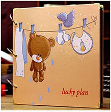 Free shipping DIY big size handmade photo album black card paste type personalized Loose -Leaf  photo album baby grows T206