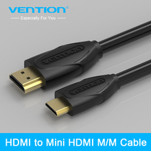 Vention Mini HDMI to HDMI Cable Gold-Plated HDMI 1.4V 1080P 1m 1.5m 2m 3m High Premium HDMI Adapter Cable for Tablet Camcorder(China)