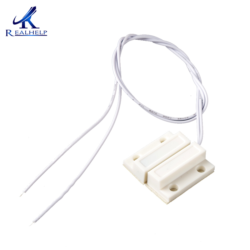 Wired Window Magnetic Contact Sensor Detector Switch for GSM Home Alarm Security Plastic Reed Contact Sensor for Alarm(China)
