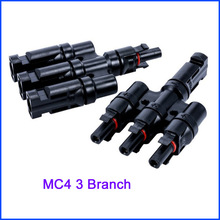 MC4 for 3T parallel splitter Connectors 10 pairs Set for PV Solar Panel Cable Accessories(China)