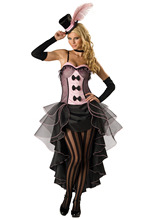 Halloween Cabaret Burlesque Can Can Dancer Costume Fantacy Saloon Cowgirl Dress Plus Size M L XL 2XL