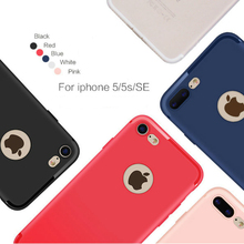 For iPhone SE 5 5s Case Cover Soft Silicone Matte TPU Shockproof Candy Color Mobile Phone Shell for iPhone 5s SE Slim Cover Case(China)