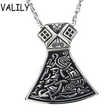 New latest version  Exclusive Thor Hammer axe silver blackpendant  Necklace,stainless steel fashion necklace jewelry for women