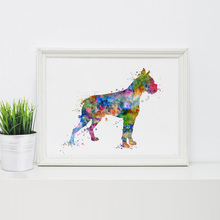 Boxer Dog Art Print Boxer Poster Wall Art Wall Hanging Dog Art Wall Decor Animal Painting for New House Wall Art Decor P297(China)