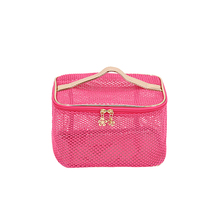 Waterproof PVC Transparent Mesh Cosmetic Bag Women Professional Toiletry Kit Wash Necessaire Travel Organizer Make Up Bags