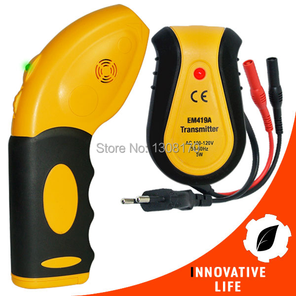 110V Circuit Breaker Fuse Control Locator Receiver Transmitter Lamp Socket &amp; Outlet Adapters Tester Electrical Finder Tool<br>