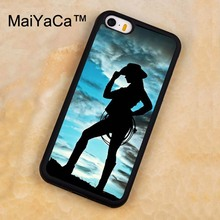 MaiYaCa _COWGIRL SILHOUETTE WESTERN Phone Case For iPhone 5 5S SE Luxury Cover Shell For Apple Back Cover For iPhone 5s case(China)