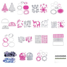 DIY Metal Cutting Dies Stencil Embossing Card Scrapbooking Album Decoration Craft Die Cutting Template Folder Suit F1724