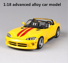1:18 advanced alloy sports car model, high simulation Dodge VIPER RT, metal casting exquisite collection model, free shipping