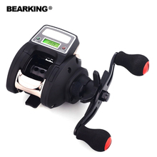 Bearking 2017 New Mela Super Light Weight Full METAL Max Drag 8KG Carp Fishing Reel Water Drop Wheel with Digital Display(China)