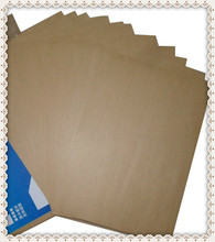 free shipping A4 blank self adhesive kraft label paper sticker for laser / inkjet printer