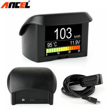 Ancel A202 Water Temperature Gauge Digital Voltage Meter Tachometer Speed Meter Display Driving Computer Digital Car Thermometer