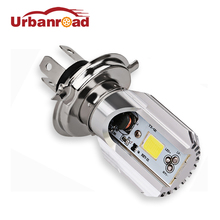 6W Hs1 Led H4 Motorcycle Moped Scooter Light Bulbs Motorbike Motorcycle H4 Led Headlight White Moto Accessories Light Bulb 12V