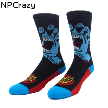 Screaming Hand Basketball Socks Classic Santa Cruz Crew Skateboard Socks Cotton Terry Sport Meias(China)