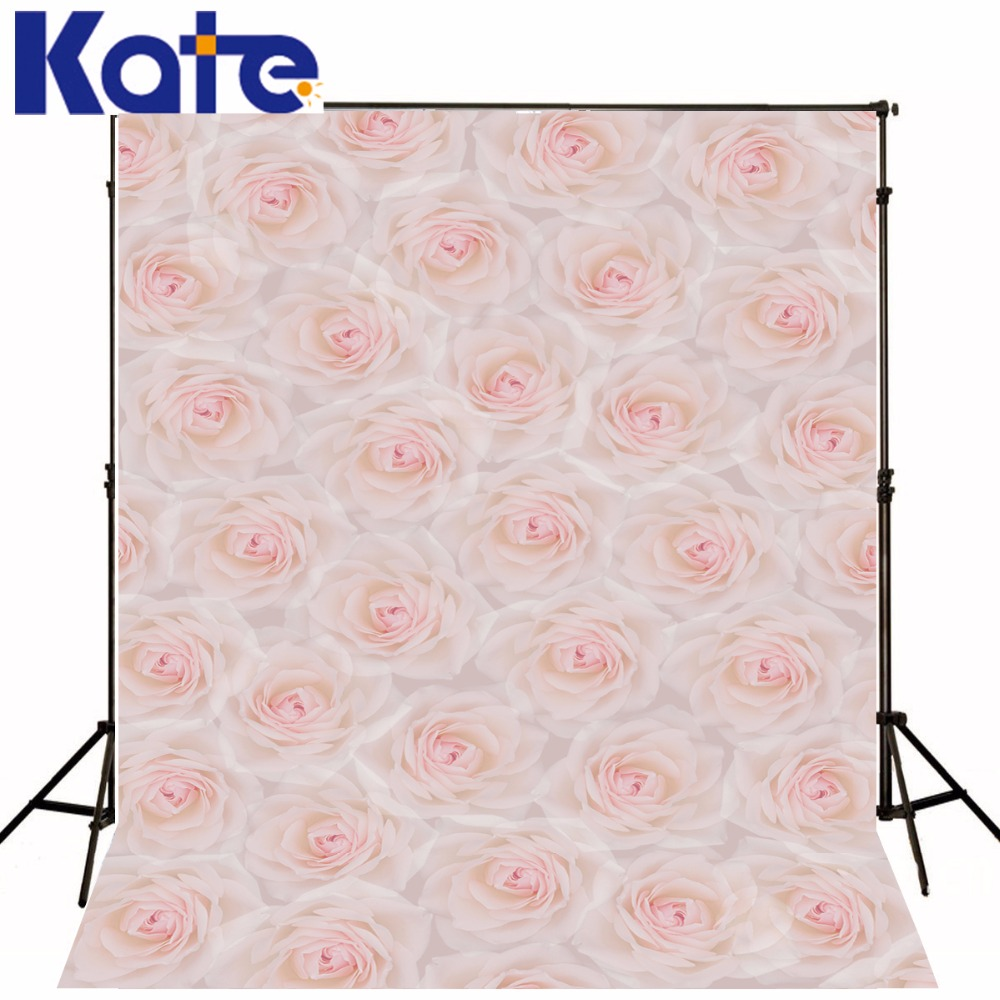Kate Rose Flowers Digital Printing Photography Backdrops Pink Flowers For Newborn Background Photography Booth Backdrop<br>