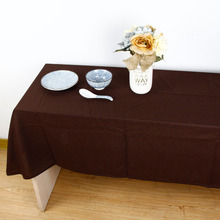 2017 New Solid Tablecloth for Dinner Style High Quality Cloth Bohemia Style Decorative Cotton Linen Table Cloth 4 Colours