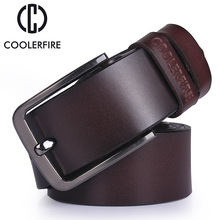 High quality men's genuine leather belt designer belts men luxury strap male belts for men fashion vintage pin buckle for jeans(China)