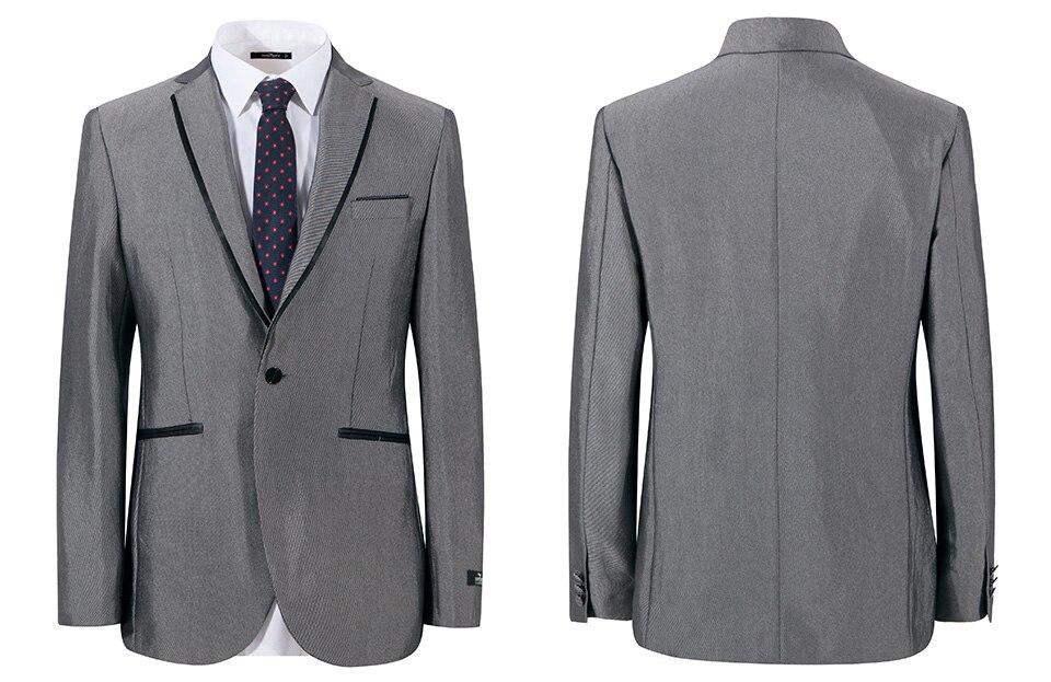 HTB18U5aRpXXXXbPXpXXq6xXFXXXF - Seven7 Brand Mens Suits 2017 Slim Fit Grey Luxury Male Blazer Wedding Suit For Groom Tuxedo Business Party Jacket Pants 703C1203