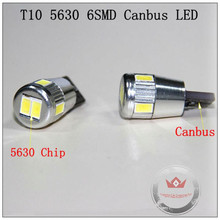 Night Lord 2pcs/lot 12V 3W T10 5630 6SMD Canbus Car LED auto Interior Lighting Clearance Lights  Free Shipping