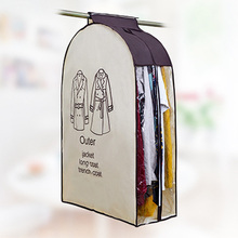 High Quality Non-woven Fabric Hanging Dust-proof Clothes Cover Suit Dress Soft Storage Garment Bag(China)