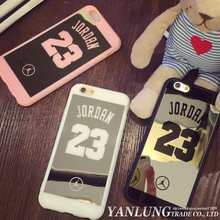 New Brand Michael Jordan 23 Phone Cases Silicon Soft Mirror Coque Fundas for iPhone SE 5 5S 6 6S 7 Plus Covers Caso