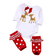infant girl christmas clothes	 baby jumper clothing 2pcs Romper + Socks infant costumes girls new born baby girls lowest price